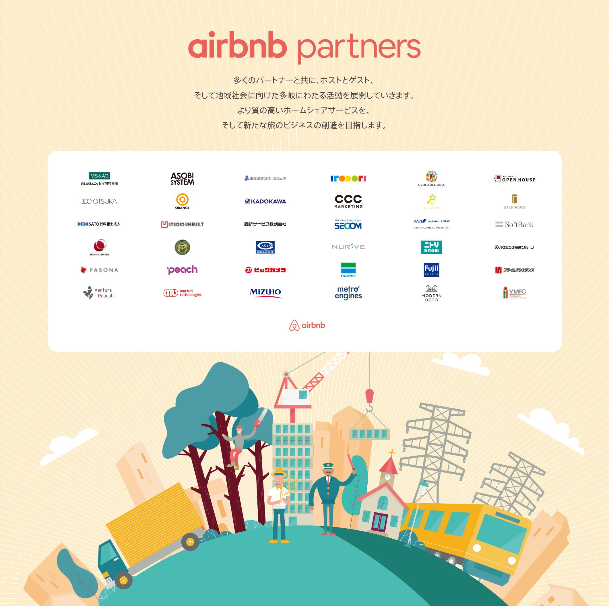 Airbnb Partnersに参画しました